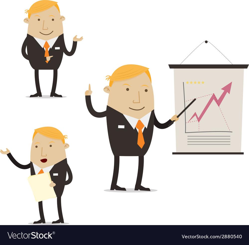 Businessman on presentation vector | Price: 1 Credit (USD $1)