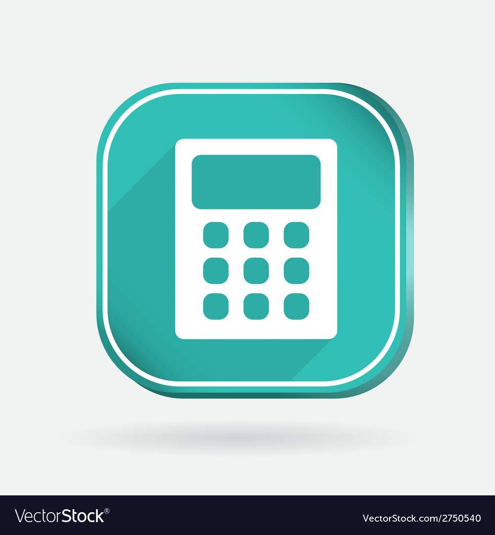 Calculator color square icon vector | Price: 1 Credit (USD $1)