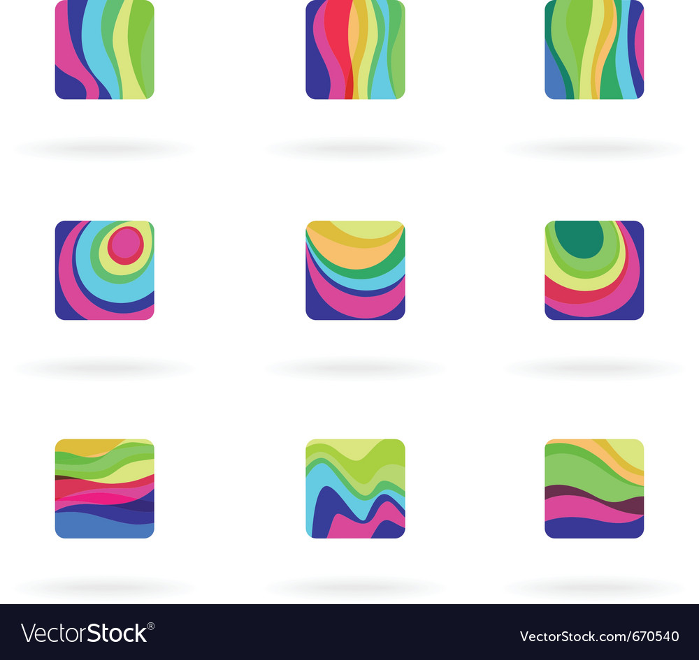 Colorful design elements vector | Price: 1 Credit (USD $1)