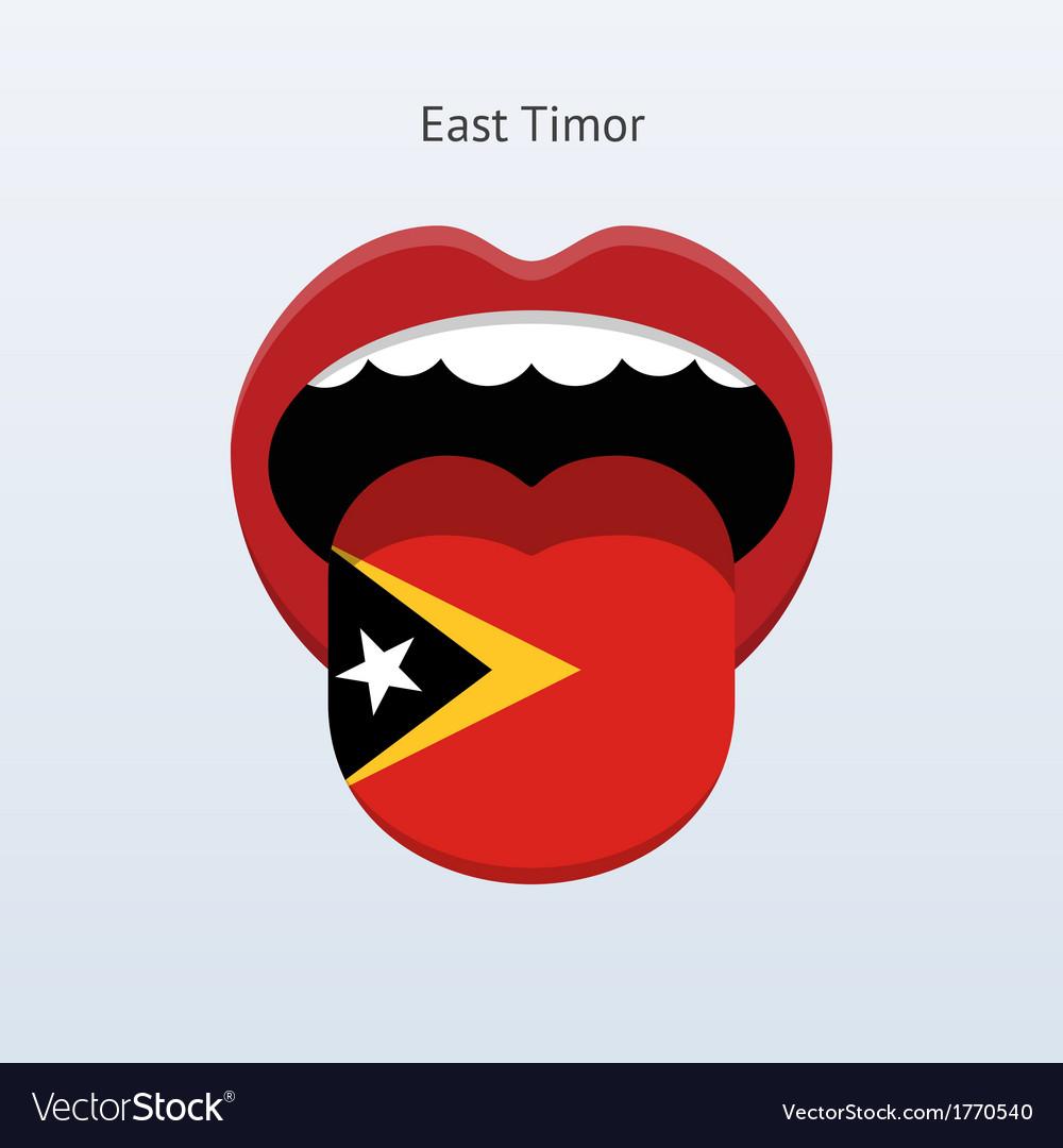 East timor language abstract human tongue vector | Price: 1 Credit (USD $1)
