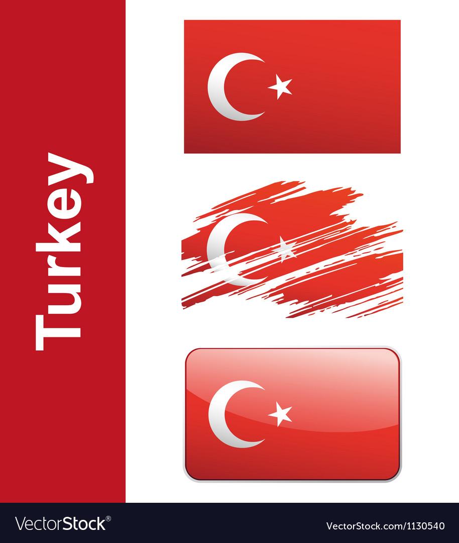 Flag turkey vector | Price: 1 Credit (USD $1)