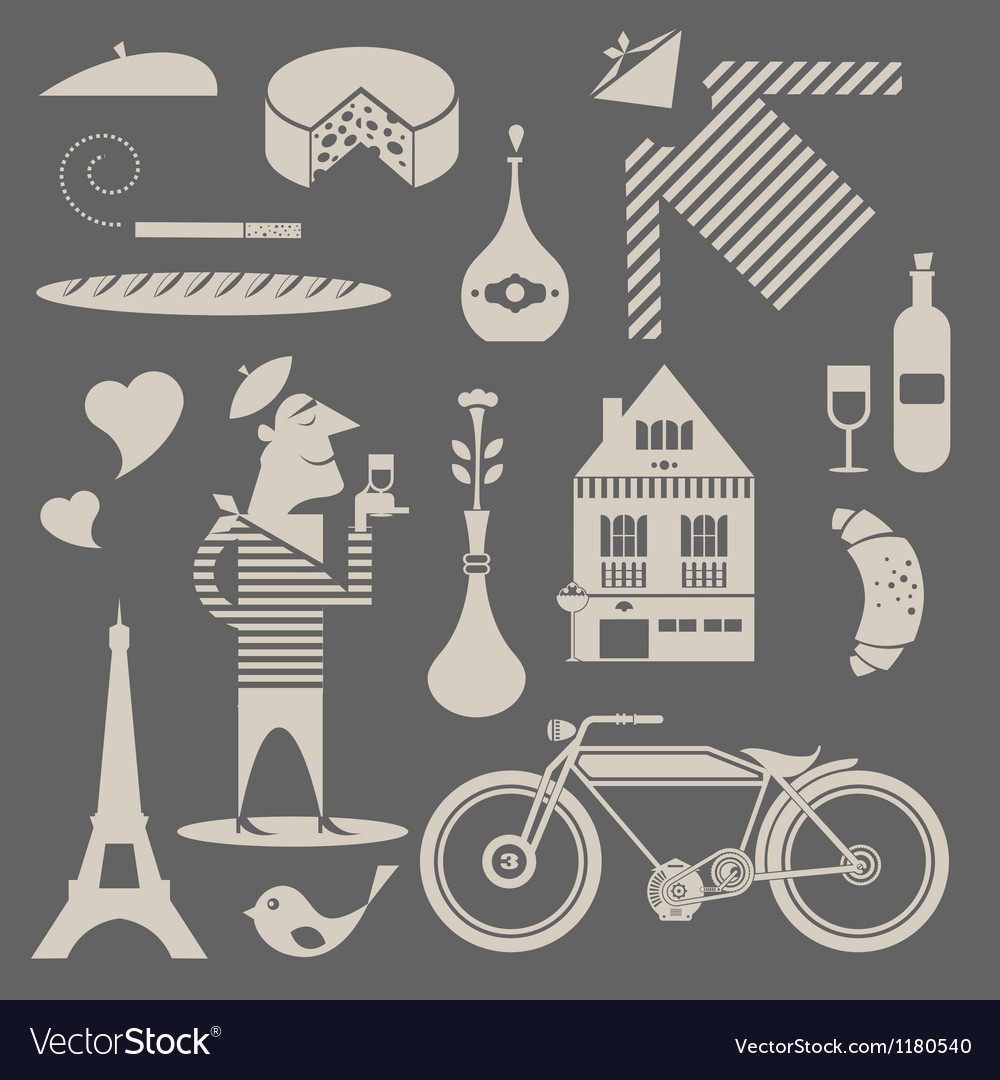 French icons vector | Price: 1 Credit (USD $1)
