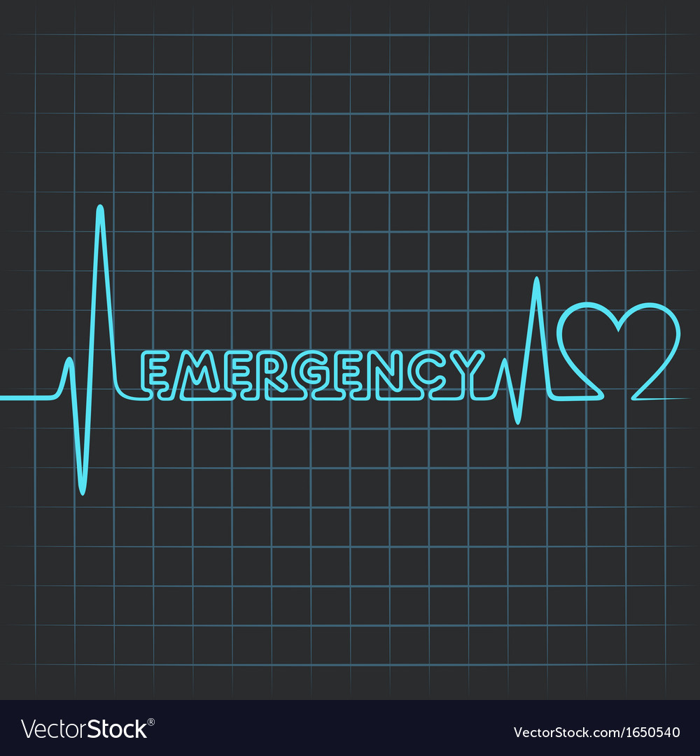 Heartbeat make emergency word vector   Price: 1 Credit (USD $1)