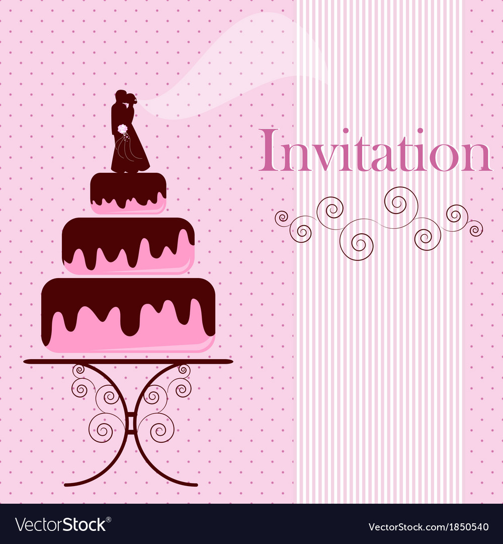 Invitation card with cakes vector   Price: 1 Credit (USD $1)