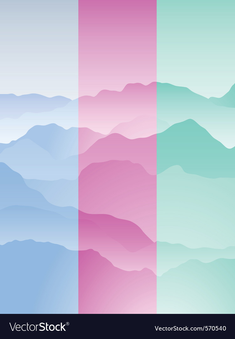 Mountain range portrait vector | Price: 1 Credit (USD $1)
