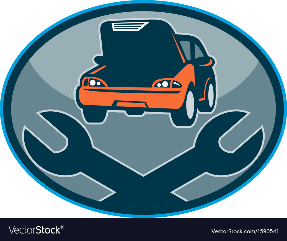 Automobile car breakdown mechanical repair vector | Price: 1 Credit (USD $1)