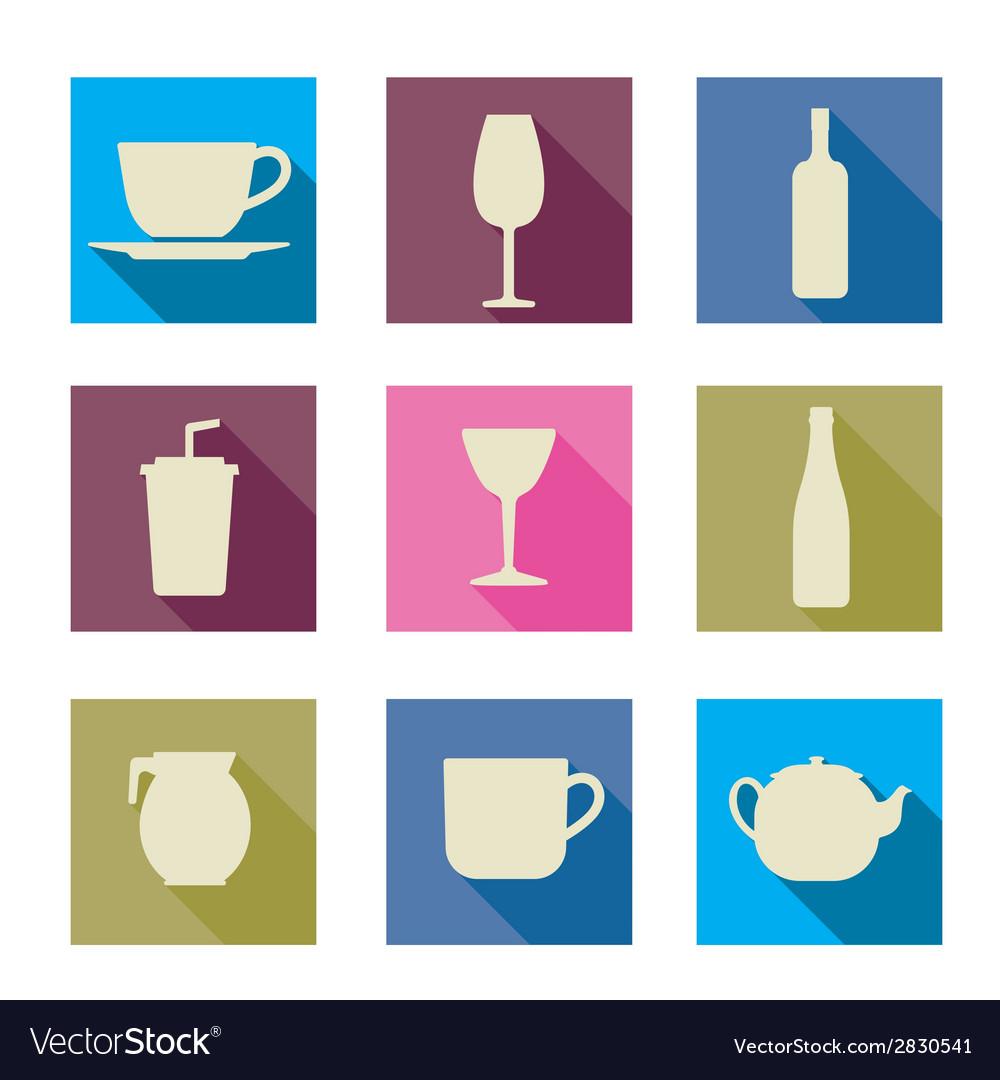 Beverage icons vector | Price: 1 Credit (USD $1)