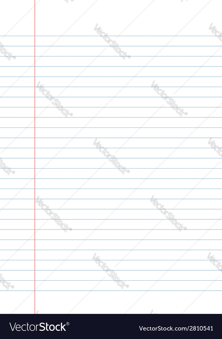 Blank white paper with line vector | Price: 1 Credit (USD $1)