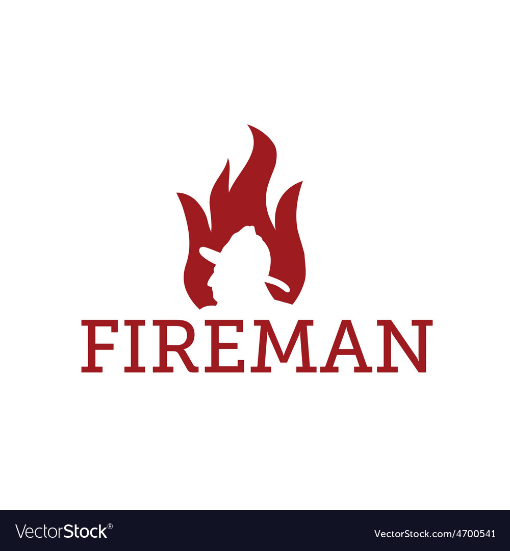 Fereman in flame vector | Price: 1 Credit (USD $1)