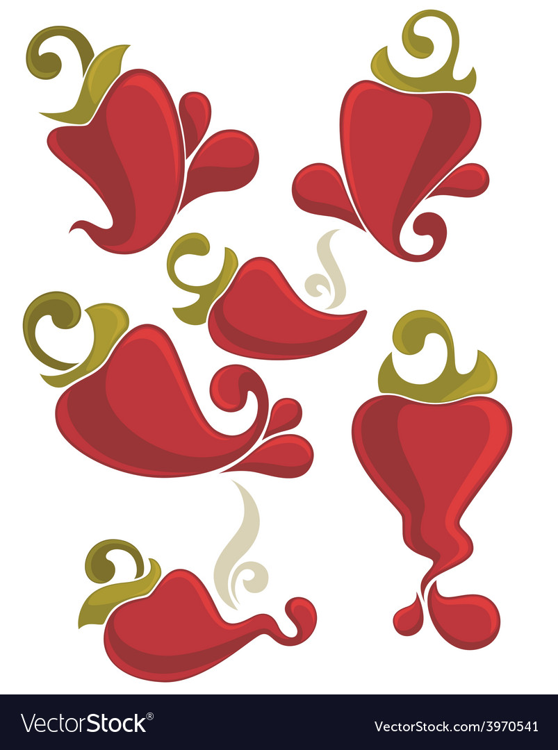 Peppers collection vector | Price: 1 Credit (USD $1)