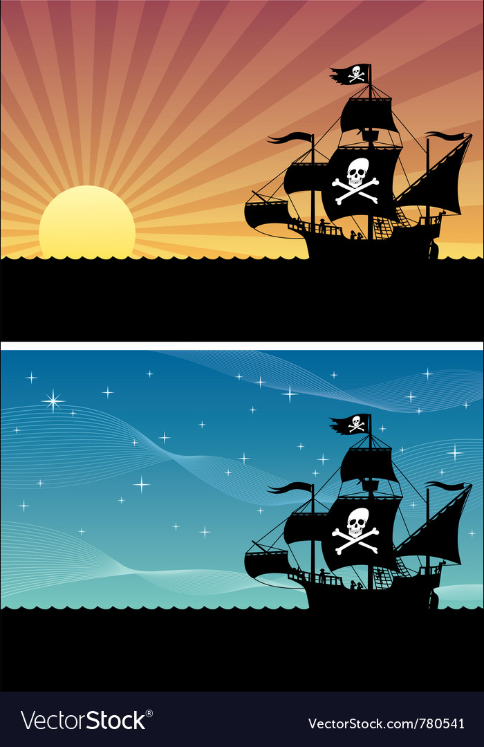 Pirate backgrounds vector