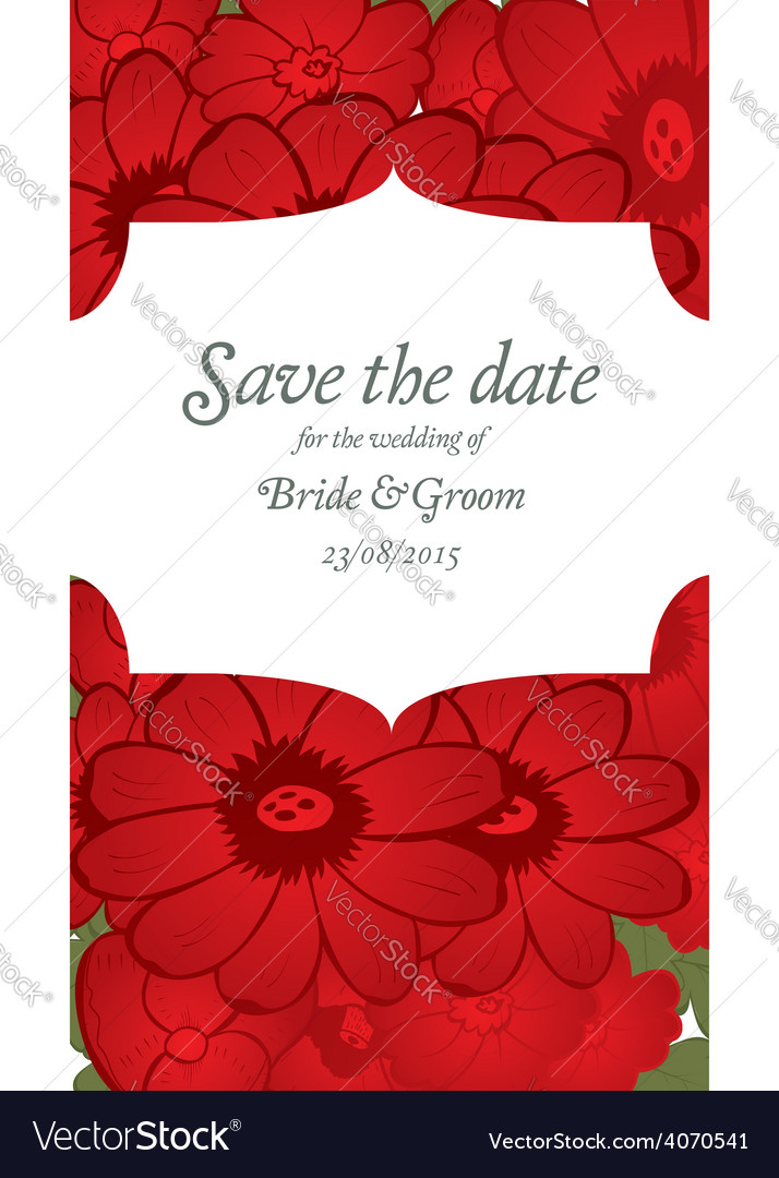 Save the date wedding invitation card template vector | Price: 1 Credit (USD $1)