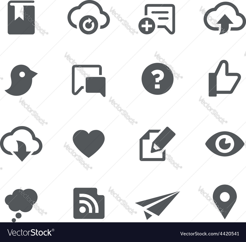 Social sharing icons - apps interface vector | Price: 1 Credit (USD $1)