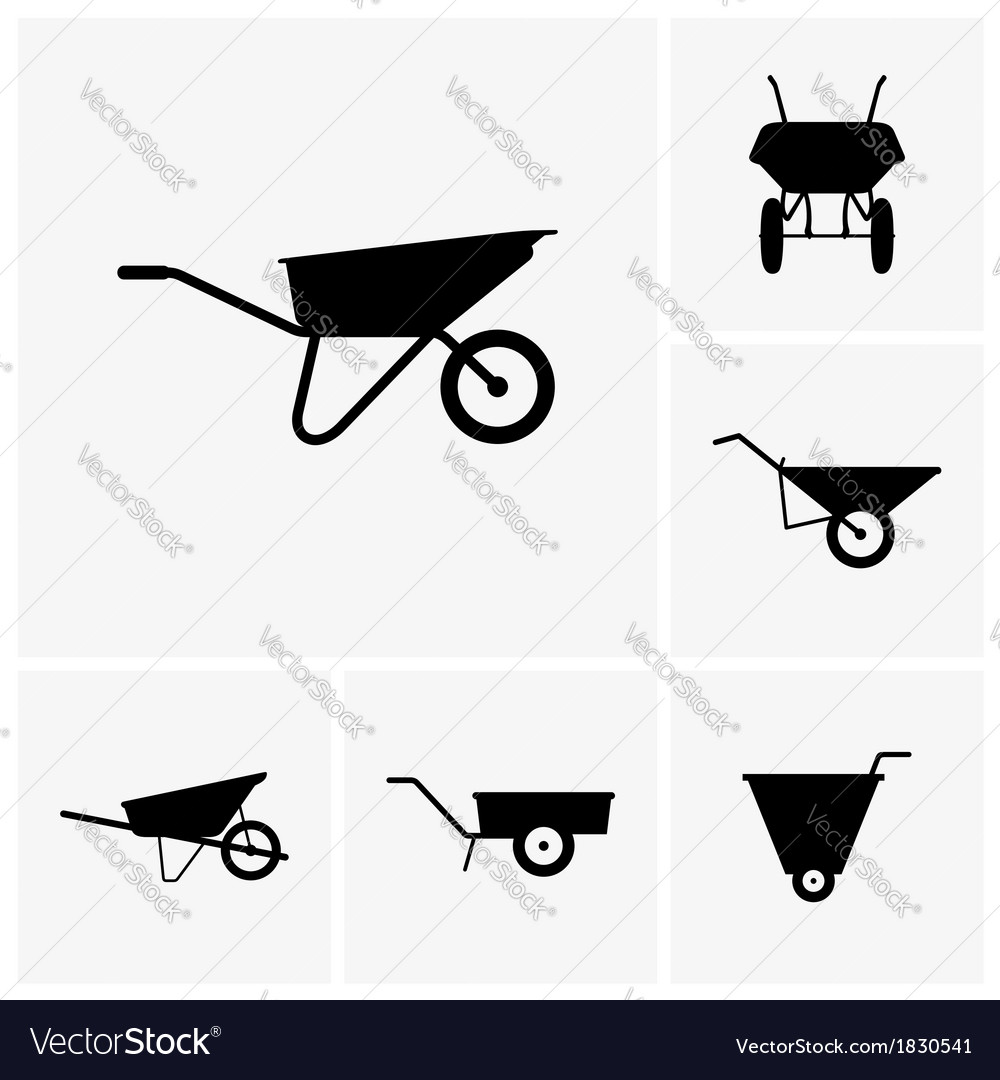 Wheelbarrow cart vector | Price: 1 Credit (USD $1)