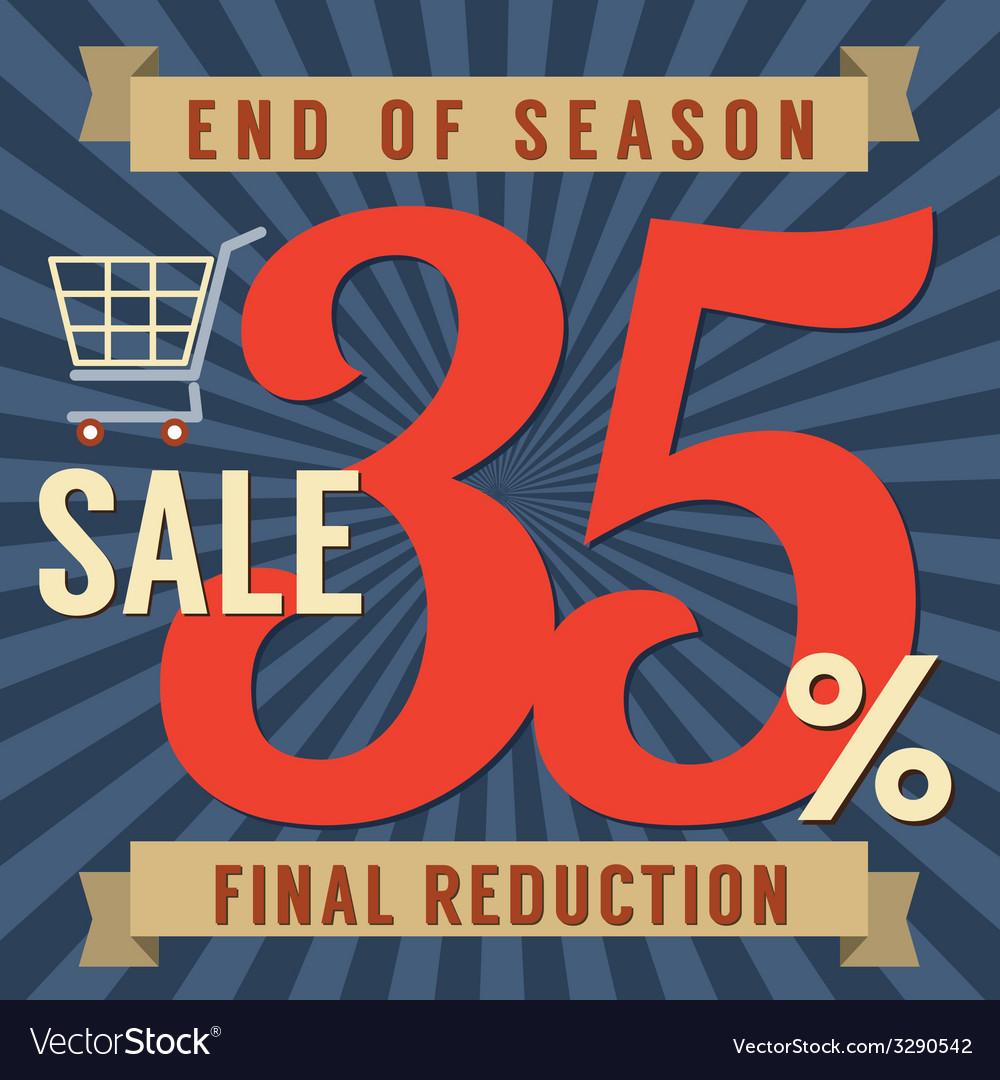 35 percent end of season sale vector | Price: 1 Credit (USD $1)