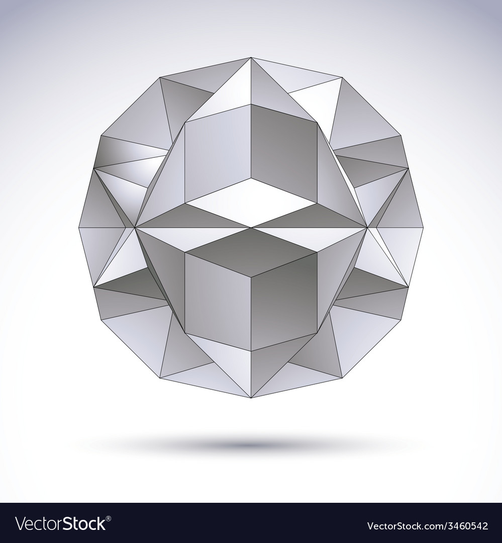 3d polygonal geometric object abstract design vector | Price: 1 Credit (USD $1)