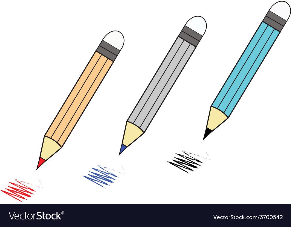Color pencil vector | Price: 1 Credit (USD $1)