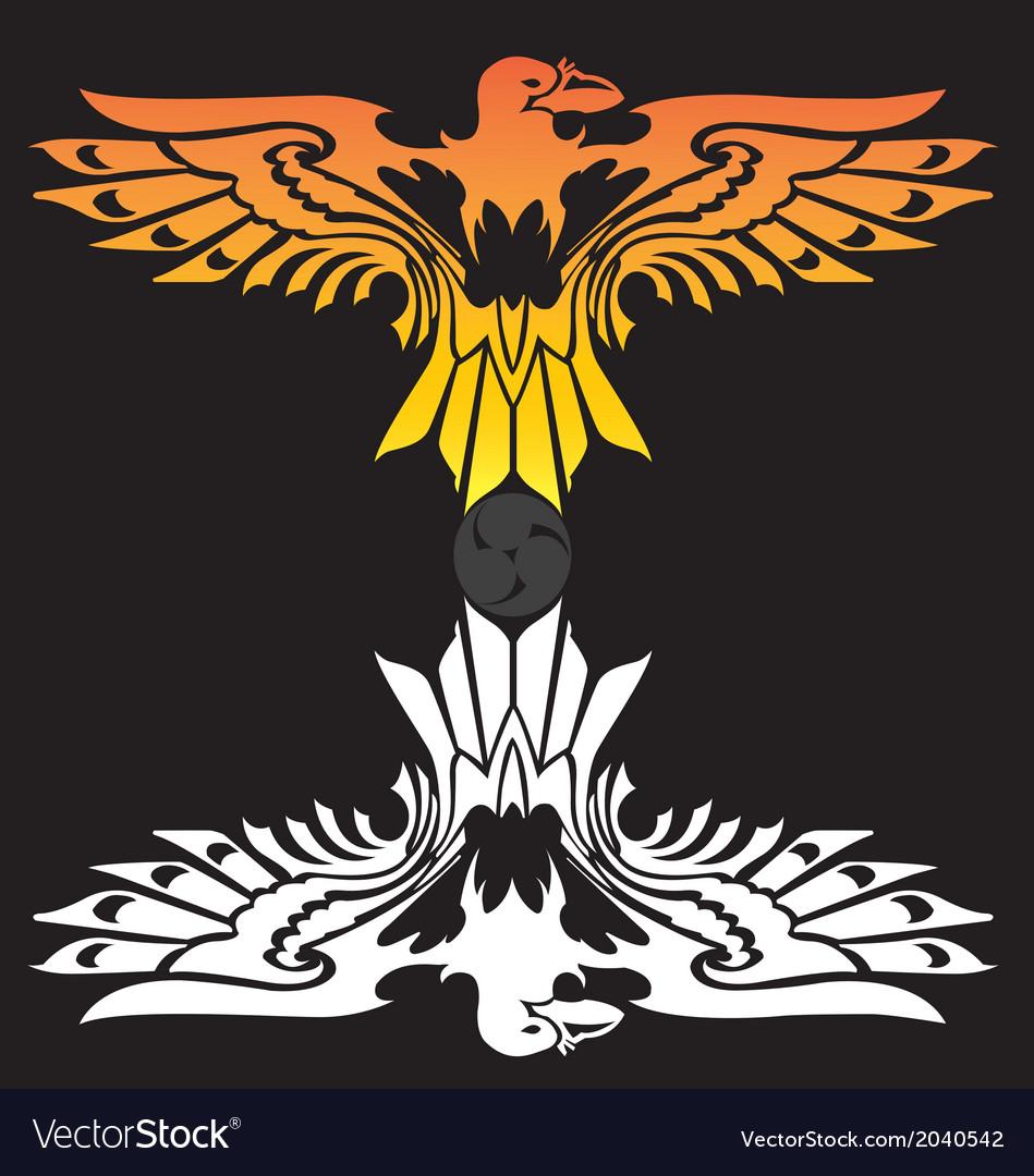 Fire eagle symbolic design freedom concept vector   Price: 1 Credit (USD $1)