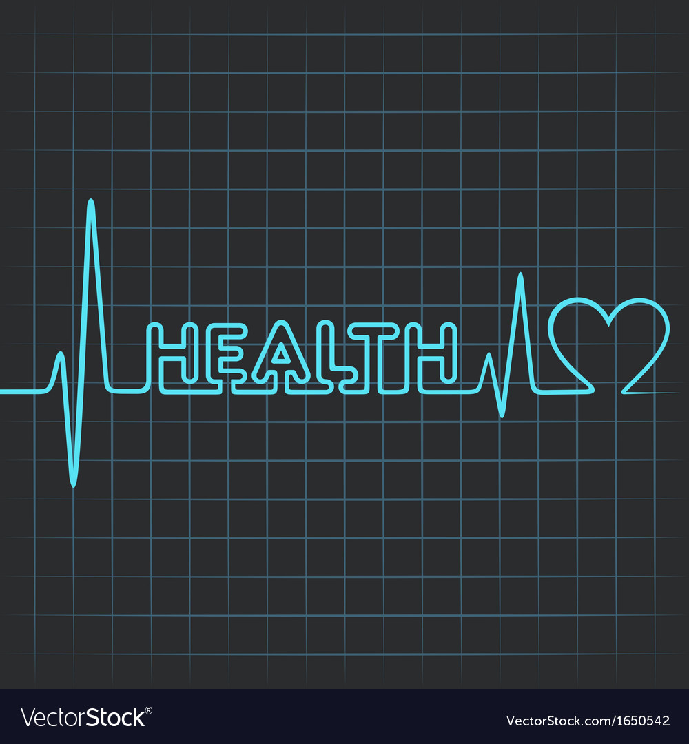 Heartbeat make health word vector | Price: 1 Credit (USD $1)