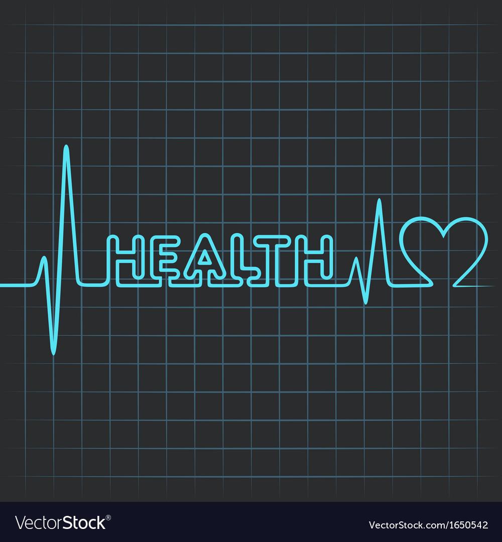 Heartbeat make health word vector   Price: 1 Credit (USD $1)