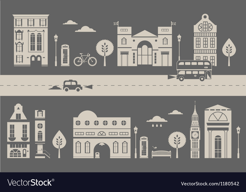 London street vector | Price: 1 Credit (USD $1)