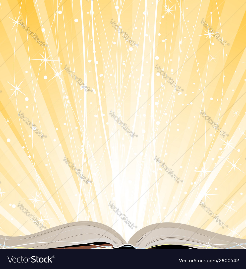 Shining open book vector | Price: 1 Credit (USD $1)