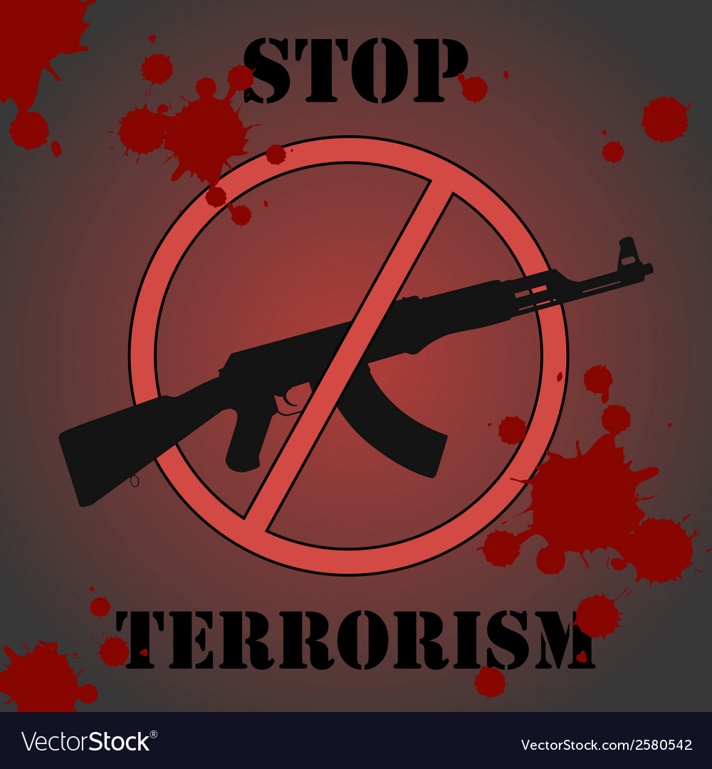 Stop terrorism vector | Price: 1 Credit (USD $1)