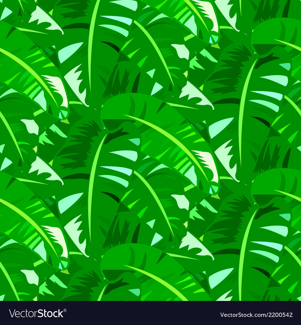 Tropical vintage pattern with big banana leafs vector | Price: 1 Credit (USD $1)