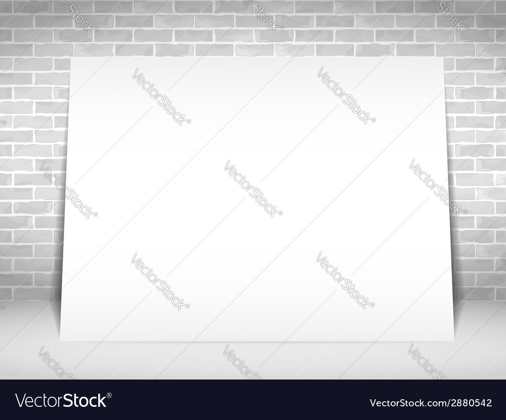 White paper banner vector | Price: 1 Credit (USD $1)