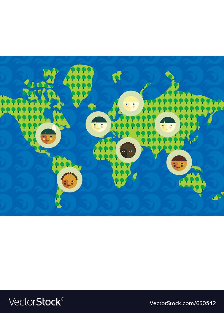 World culture vector | Price: 1 Credit (USD $1)