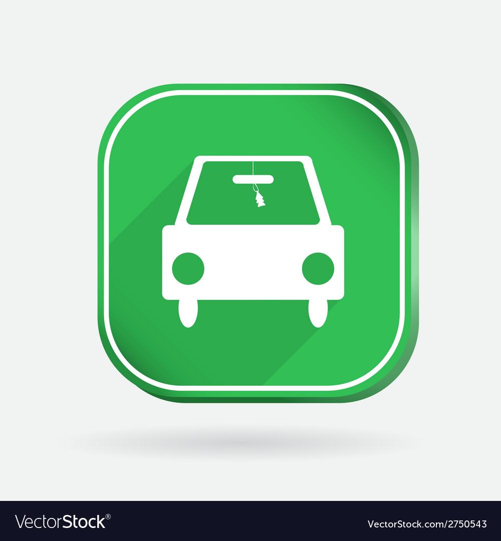 Car symbol color square icon vector | Price: 1 Credit (USD $1)