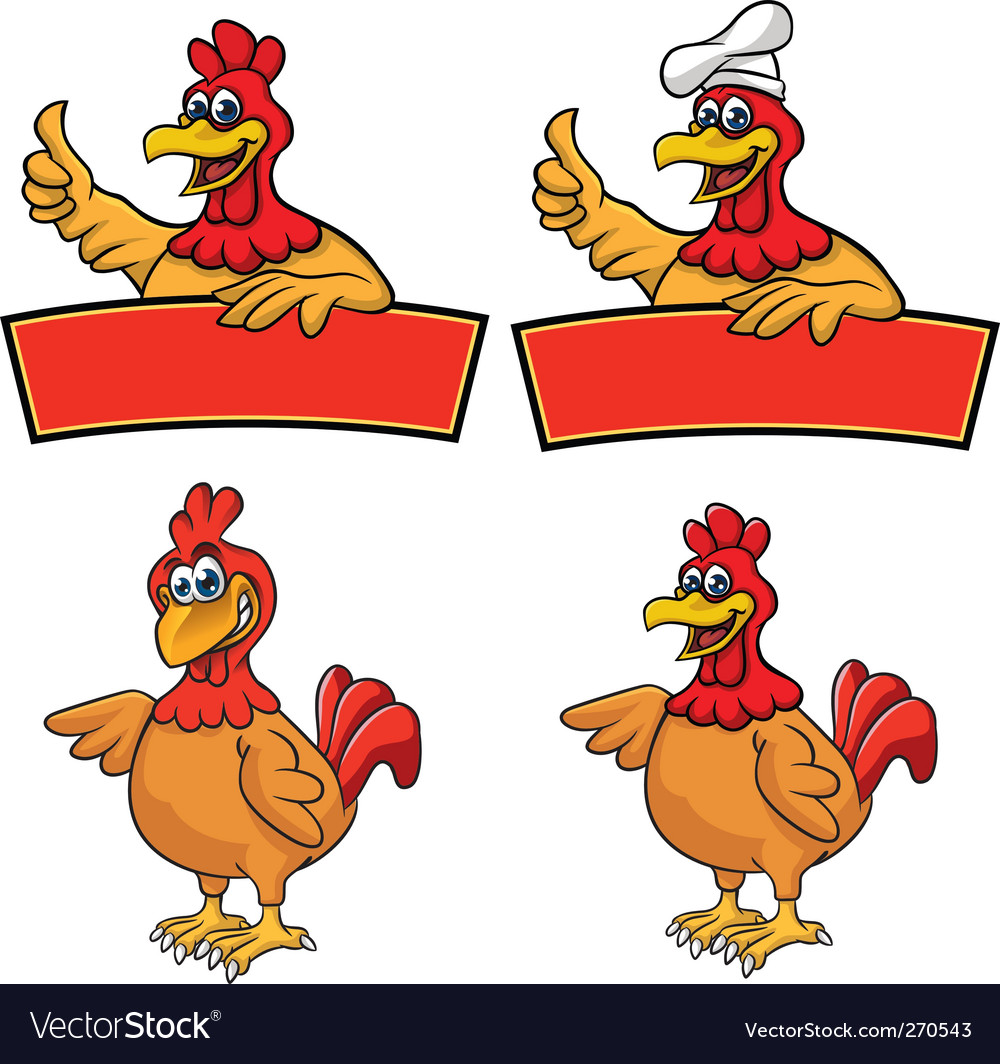 Chickenmascot vector