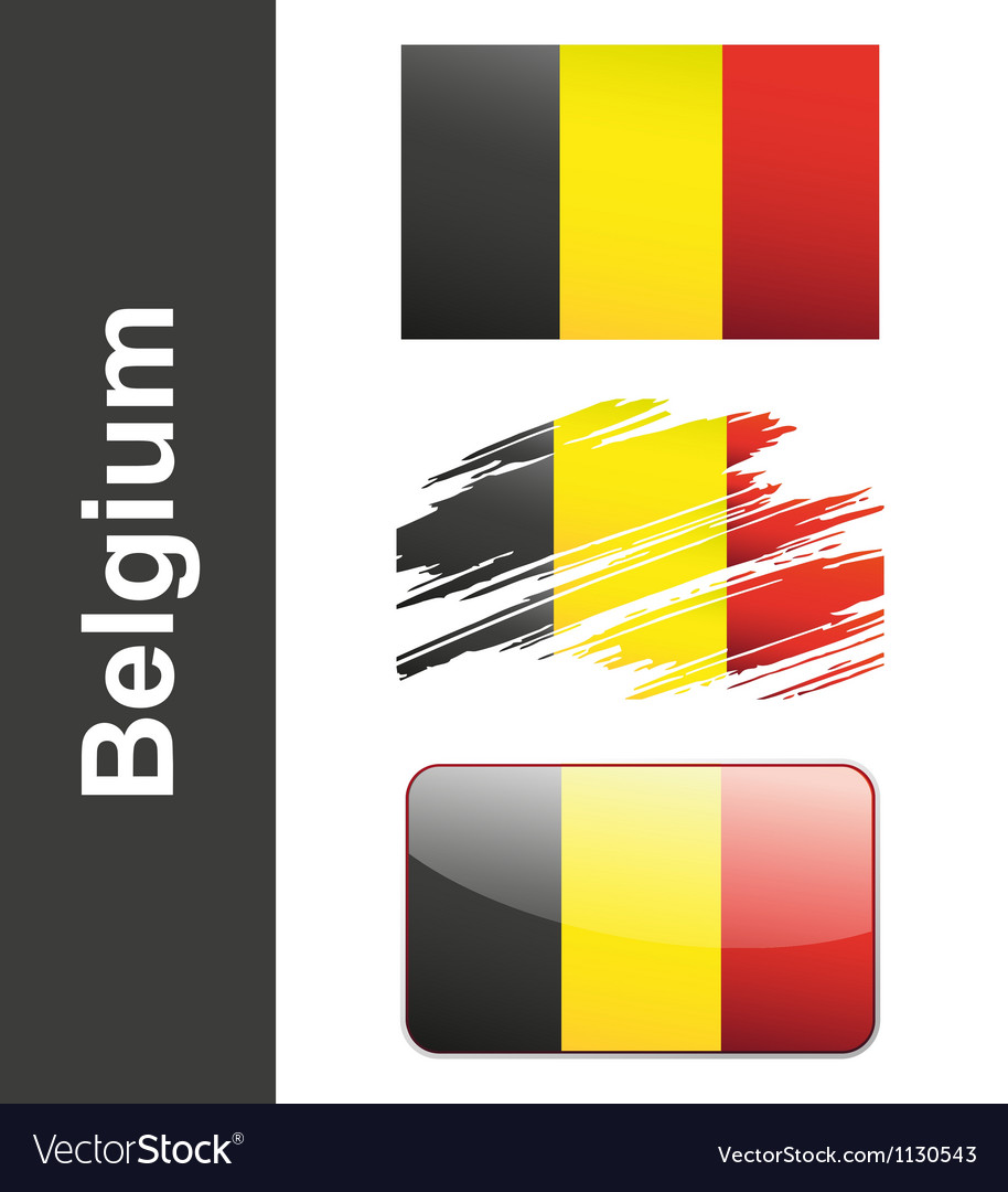 Flag belgiumin vector | Price: 1 Credit (USD $1)
