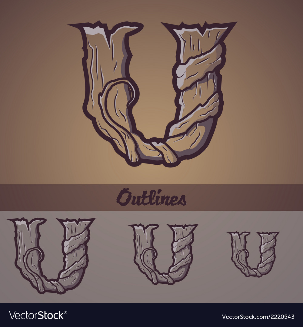 Halloween decorative alphabet - u letter vector | Price: 1 Credit (USD $1)