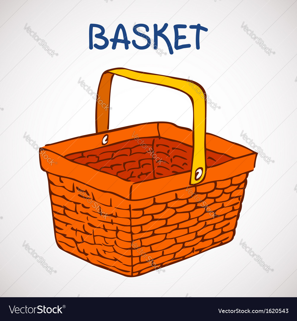 Shopping basket sketch icon vector | Price: 1 Credit (USD $1)