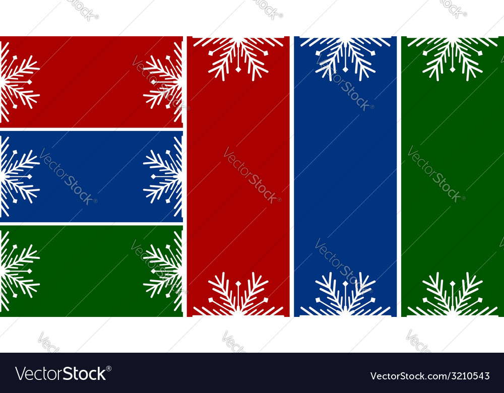 Simple christmas or winter cards vector | Price: 1 Credit (USD $1)