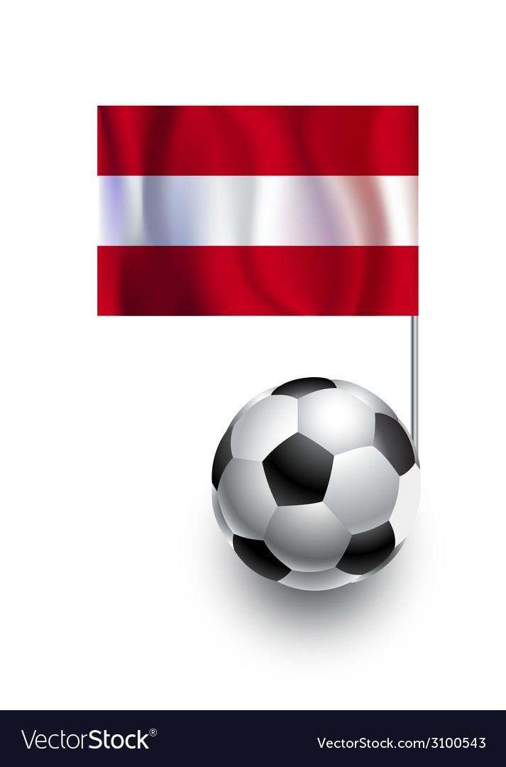 Soccer balls or footballs with flag of austria vector | Price: 1 Credit (USD $1)