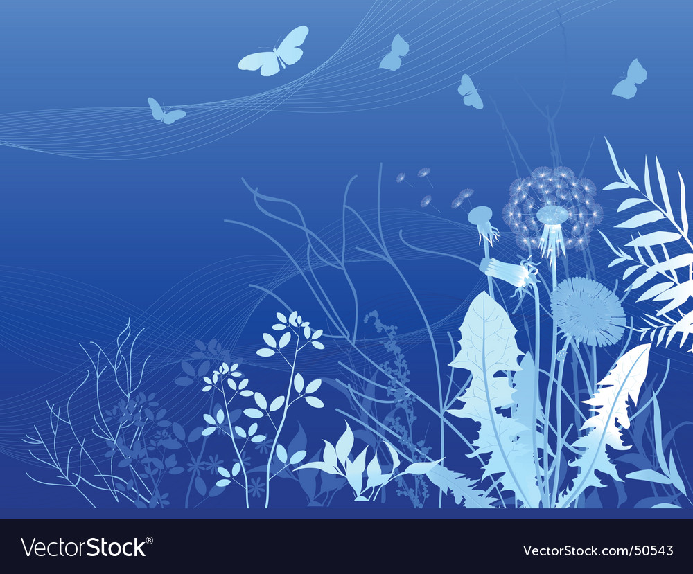 Spring meadows background vector | Price: 1 Credit (USD $1)