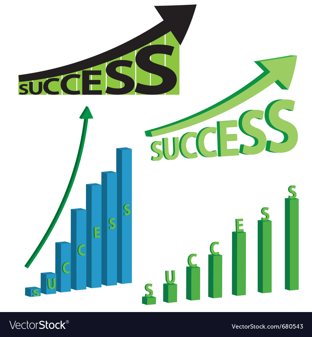 Success graphs vector | Price: 1 Credit (USD $1)