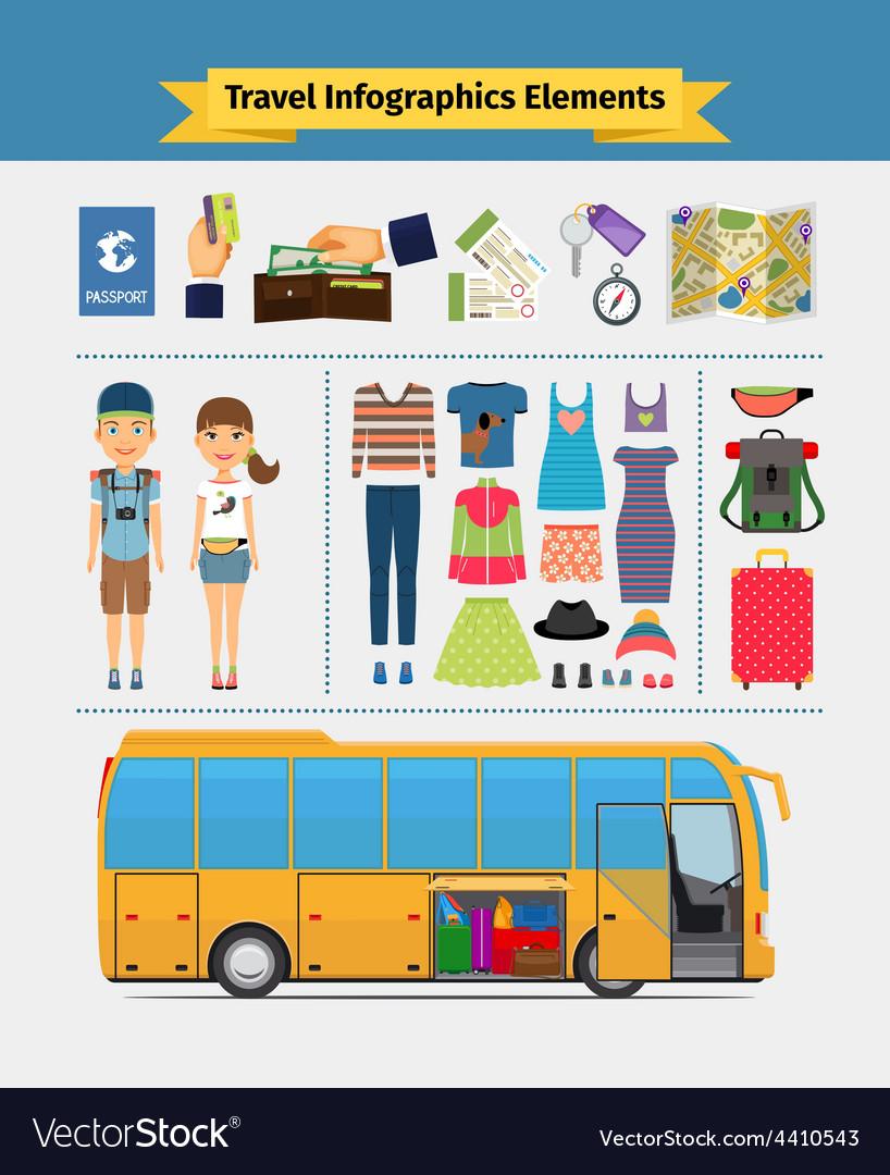 Travel infographics elements vector | Price: 1 Credit (USD $1)