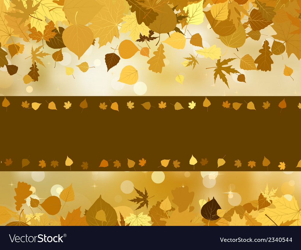 Autumn with colored leaves on bokeh effect eps 8 vector | Price: 1 Credit (USD $1)