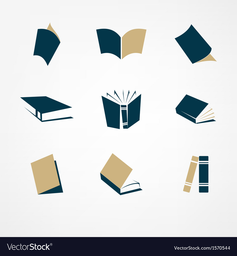 Book icon set vector | Price: 1 Credit (USD $1)