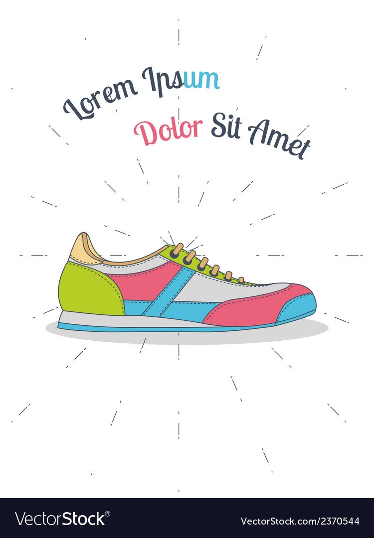 Flat sneaker style hipster vector | Price: 1 Credit (USD $1)