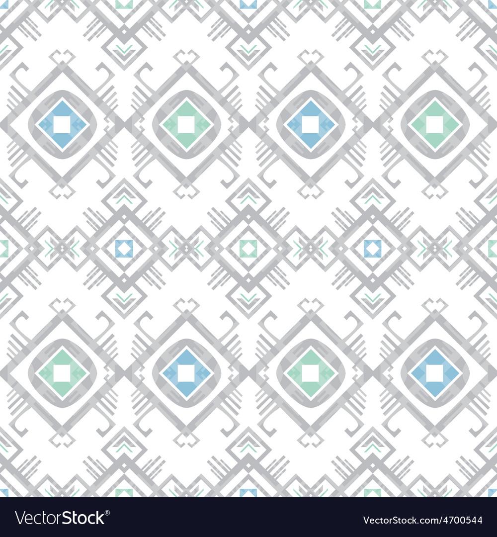 Grey blue tribal geometric seamless pattern vector | Price: 1 Credit (USD $1)
