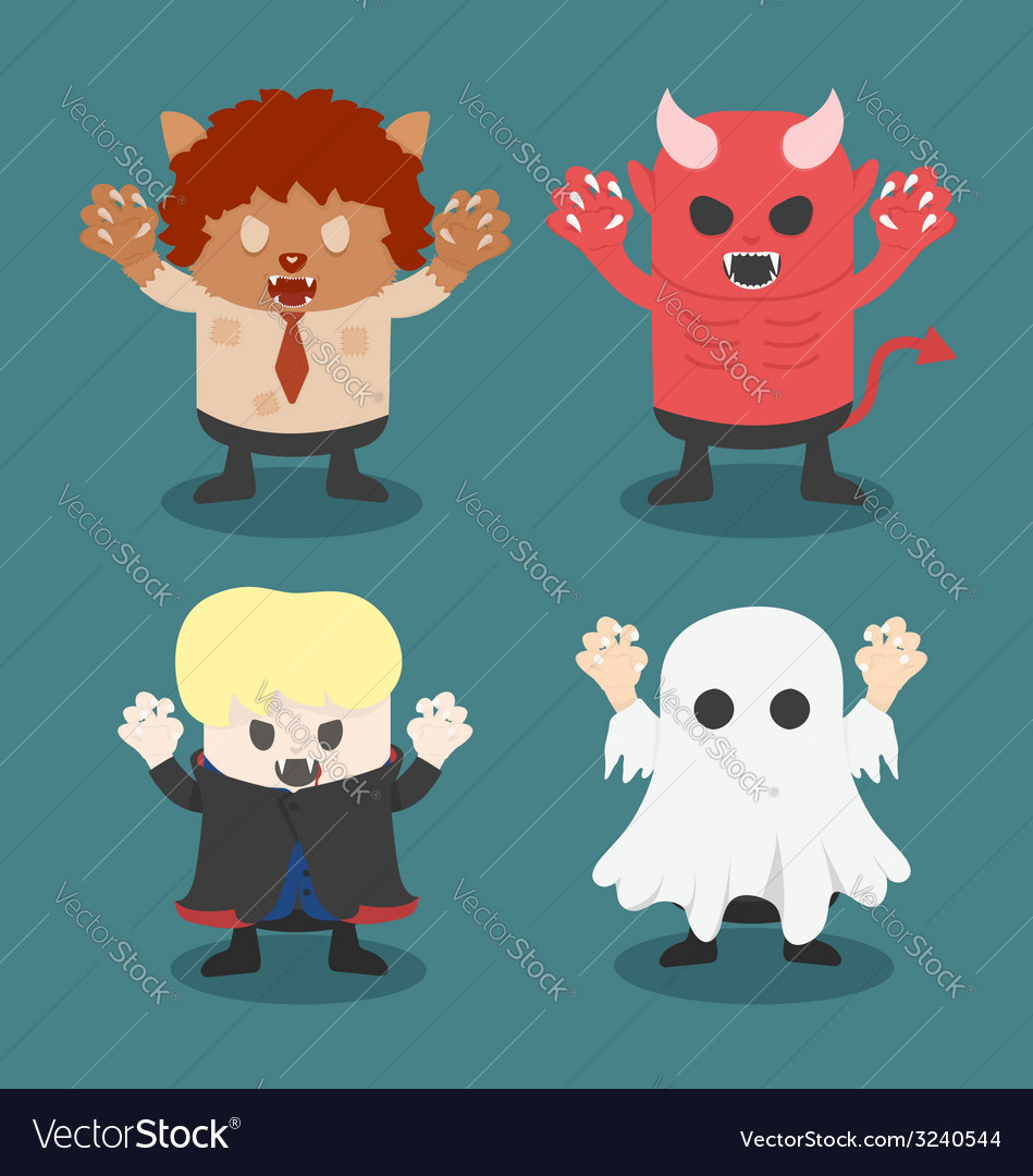 Halloweenfront set 1 vector | Price: 1 Credit (USD $1)