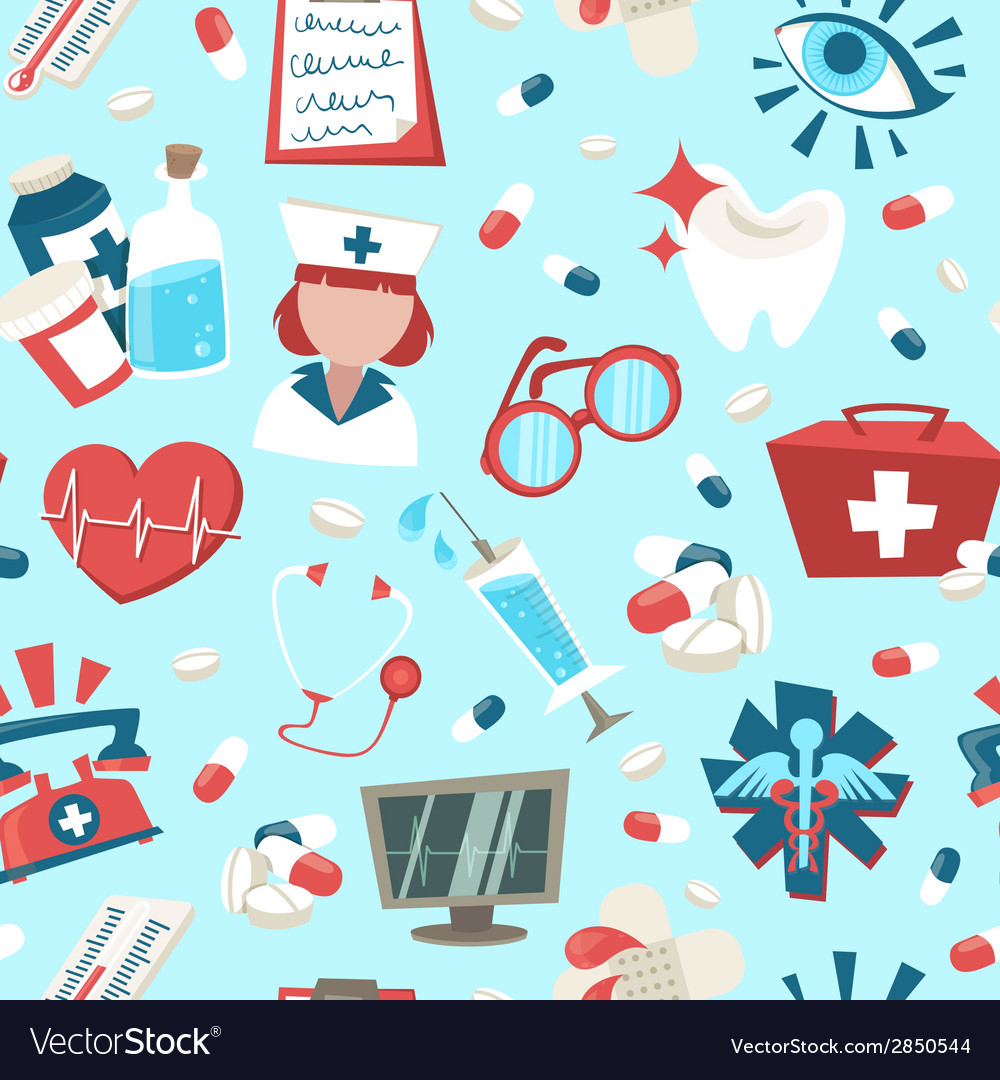 Hospital seamless pattern vector | Price: 1 Credit (USD $1)