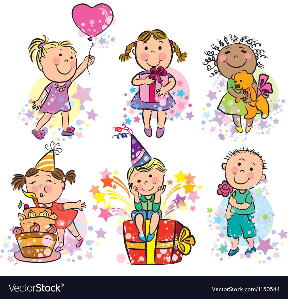 Kids celebrating vector | Price: 1 Credit (USD $1)