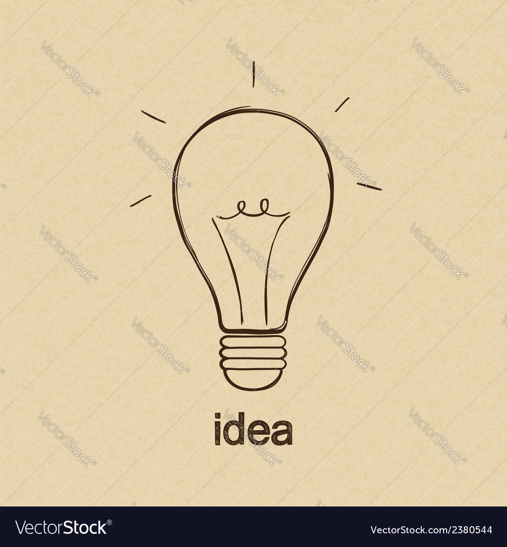 Lightbulb vector | Price: 1 Credit (USD $1)