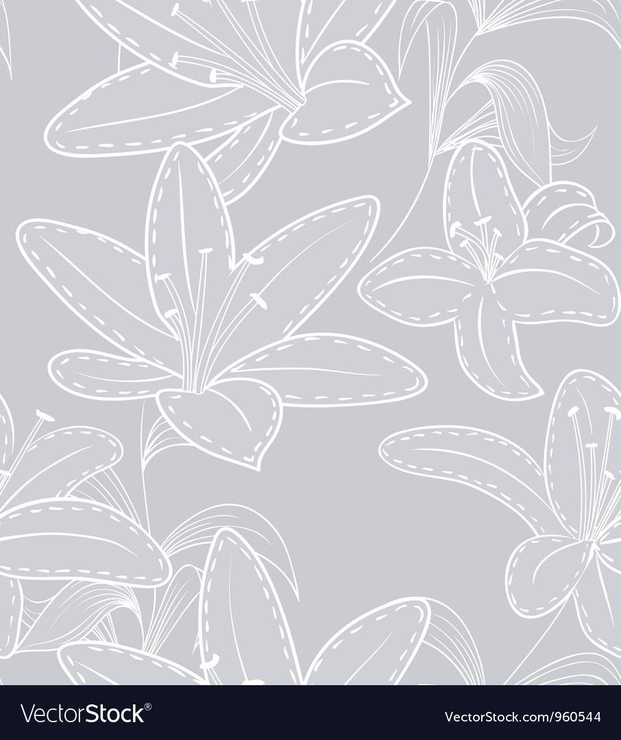 Lilly pattern vector | Price: 1 Credit (USD $1)