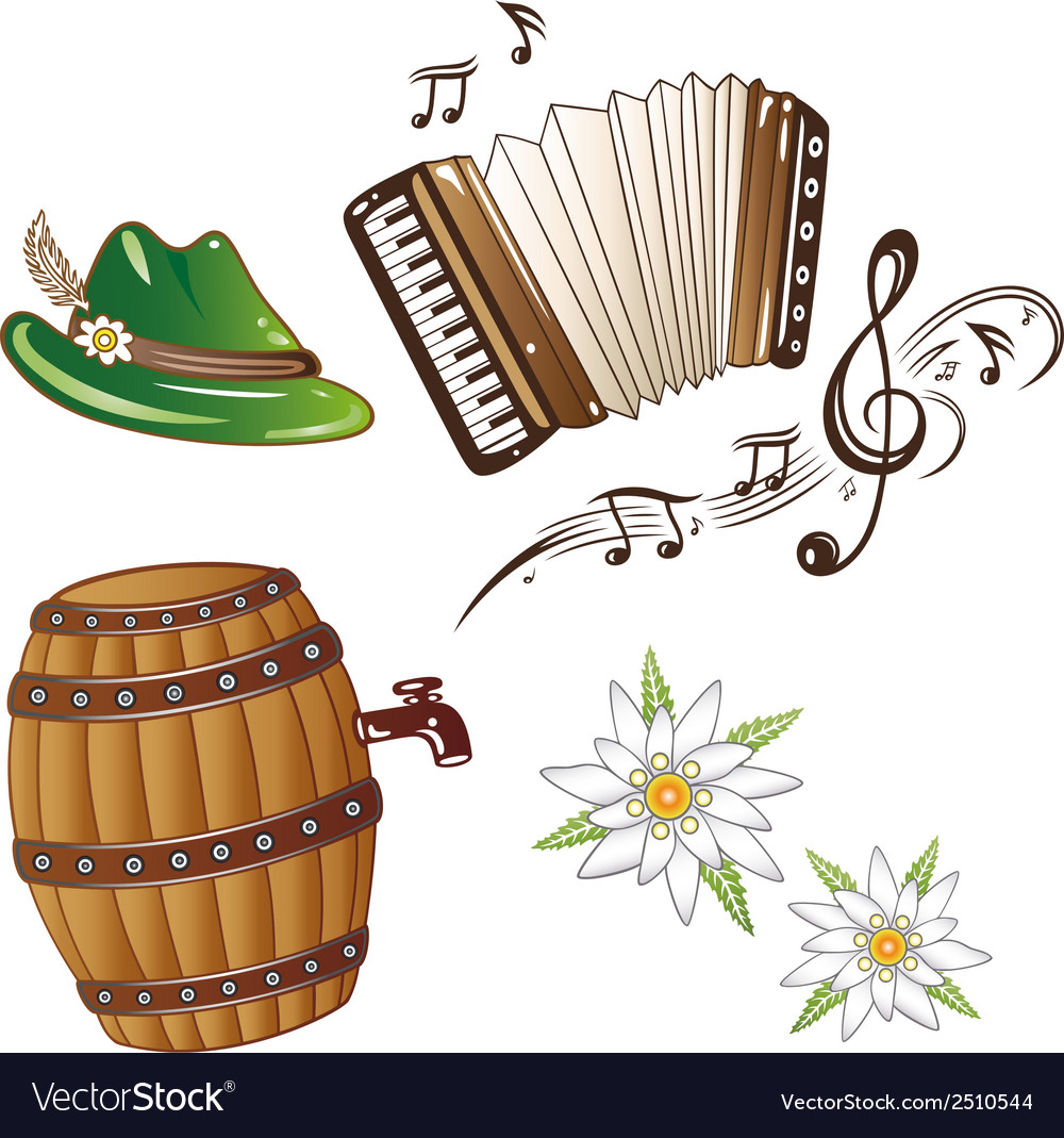 Oktoberfest design elements vector | Price: 1 Credit (USD $1)